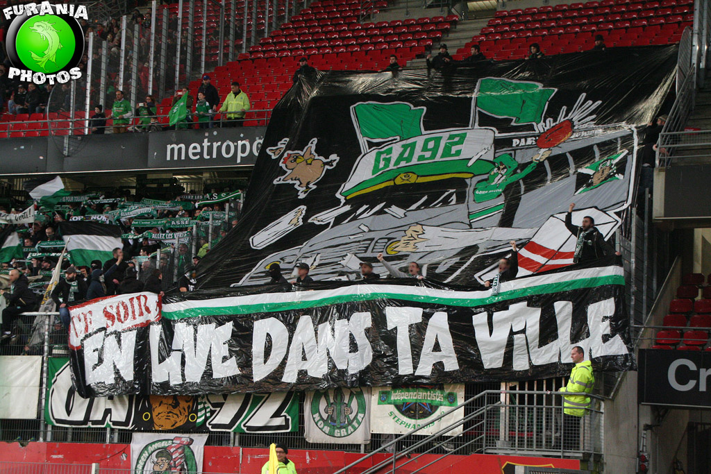 Les Verts nombreux et bruyants à Rennes